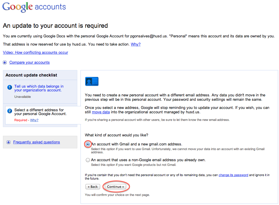 how to delete an account on my gmail app